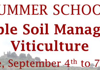 "Summer School ""Sustainable Soil Management in Viticulture"", 4-7 September 2017"