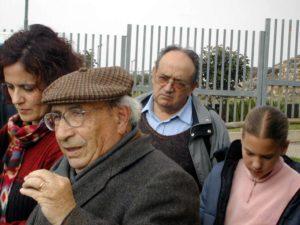 Maria Raimonda insieme al Prof. Lilliu, il Prof. Aru e Pascale