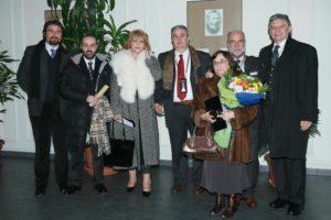 Sofia, 2007, foto ricordo, nella sede dell'Accademia delle Scienze della Bulgaria, in occasione della Laurea Honoris Causa in Scienza del Suolo conferita al professore Sergio Vacca.