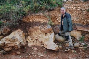 Cala Gonone, Dorgali, 2009, Andrea nell'escursione preparatoria di una Giornata Internazionale del Suolo