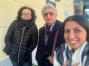 """""""I tre moschettieri"""". Da sinistra Eleonora Grilli, Andrea Buondonno e Renata Vigliotti. Novembre 2018. DiSTABiF, Università degli Studi della Campania """"Luigi Vanvitelli"""", Caserta."""
