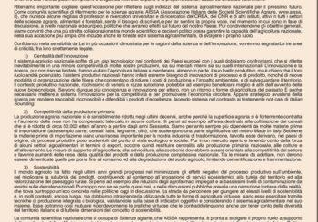Lettera aperta alla Ministra delle Politiche Agricole, Alimentari e Forestali, Senatrice Bellanova
